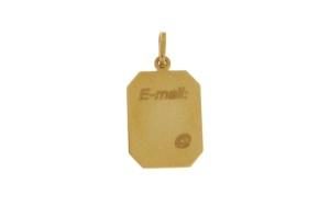 14 krt. geelgouden graveerplaatje met E mail inscriptie