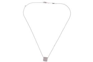 18 krt witgouden collier met hanger met daarin 0.75 crt diamant