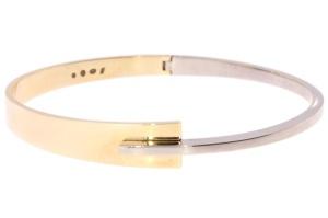 armband in 14 krt geel/wit goud