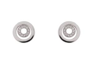 14 krt witgouden oorstekers met daarin 0.14 crt diamant