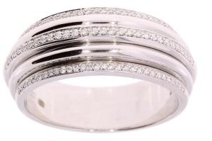 LeChic 14 krt. witgouden damesring met Diamant LC RB836R22-14