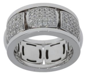 18 krt witgouden damesring met 0.49 crt diamant