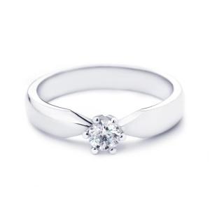 Witgouden R&C groeidiamant ring met 0.25crt diamant