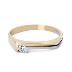 R&C 14 karaat bicolor Philline damesring met 0.02 crt diamant