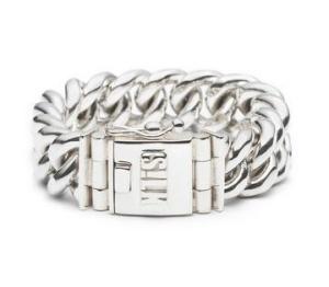 Zilveren Silk armband Vishnu