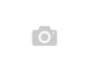 14 krt. witgouden dames memoire ring met diamant