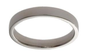 14 krt. witgouden dames aansluit ring 3.5 mm breed