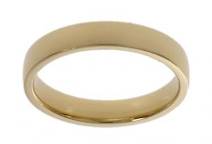 14 krt. geelgouden dames aansluit ring 4 mm breed