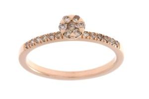 Roségouden ring met 0.22crt bruin diamant