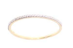 14 karaat geelgouden damesring met 0.08 crt diamant