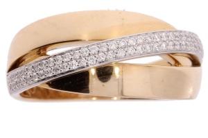 Roségouden damesring met 0.23crt diamant