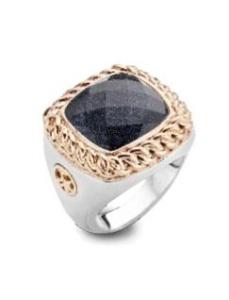 ring met bergkristal