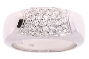 Witgouden damesring met 0.78crt diamant