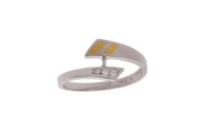 Platina damesring met 0.03 crt diamant