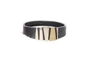 zilveren armband met goud