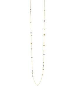 18 krt roségouden collier met 0.56 crt diamant