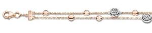18 krt roségouden armband met 0.23 crt diamant