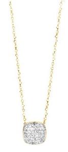 18 krt bicolor gouden hanger met 0.28 crt diamant incl. collier