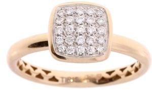 18 krt roségouden ring met 0.22 crt diamant
