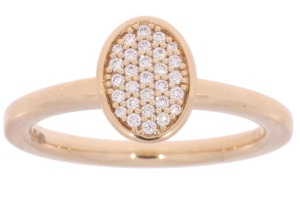 Roségouden ring met 0.14 crt diamant