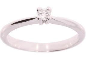 Witgouden ring met 0.10 crt diamant