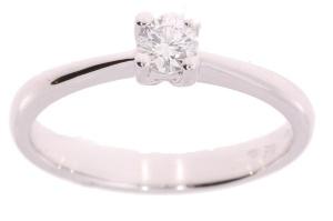 Witgouden R&C groeidiamant ring met 0.22crt diamant.