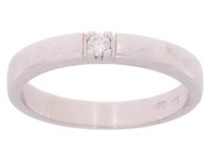 R&C witgouden ring met 0.05 crt diamant