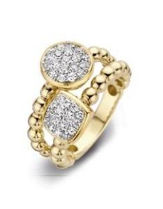 18 krt bicolor gouden ring met 0.68 crt diamant