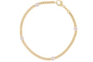 Bicolor gouden gourmet armband