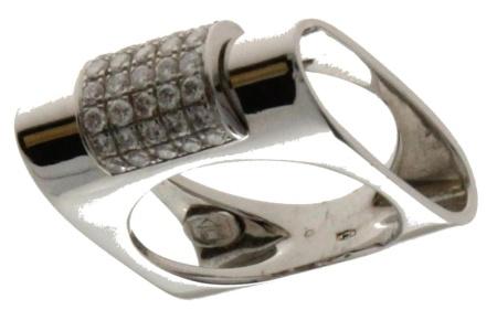 Diamant Aanbiedingen 18 krt witgouden damesring met daarin 0.90 crt diamant Sale sieraden uitlopend