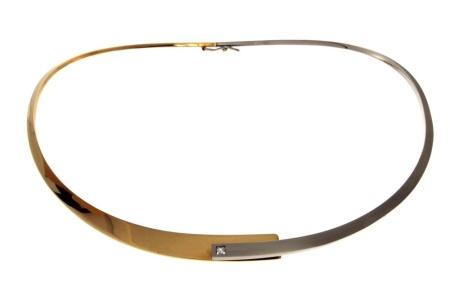 Nol Bi-color gouden spang Sale sieraden beschadigd