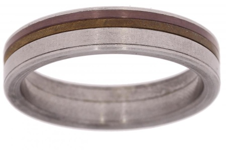 Verlinden Steel Collection Titanium ring maat 62 62/st.br n.a.l