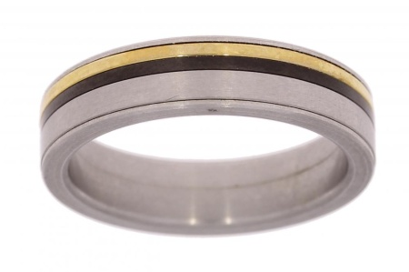 Verlinden Steel Collection Titanium damesring maat 56 56/st.ti.go n.a.l