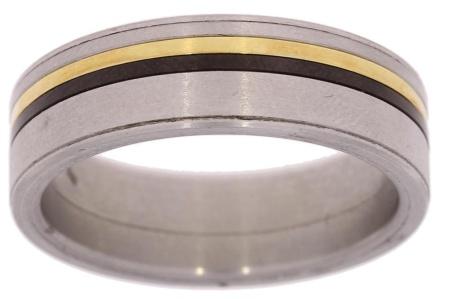 Verlinden Steel Collection titanium heren ring maat 64 64/st.ti.go/n.a.l.