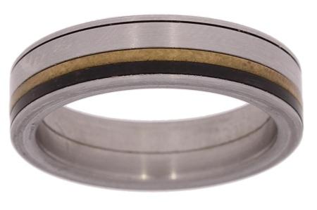 Verlinden Steel Collection Titanium damesring maat 53 53/st.ti.br n.a.l
