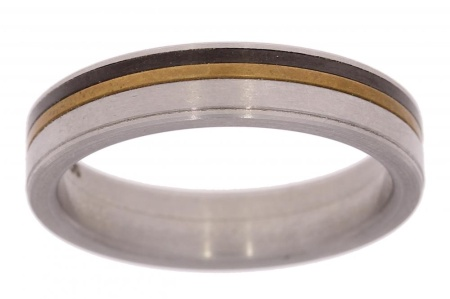 Verlinden Steel Collection titanium herenring maat 64 64/st.ti.br n.a.l