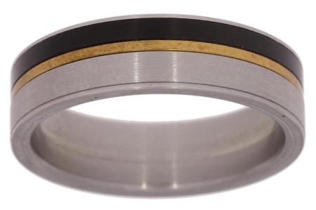 Verlinden Steel Collection Titanium hetrenring maat 66 66/st.ti.br n.a.l