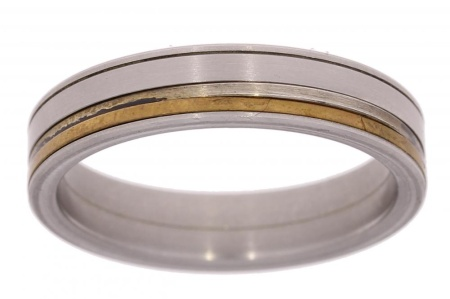 Verlinden Steel Collection Titanium herenring maat 65 65/st.br.zi n.a.l