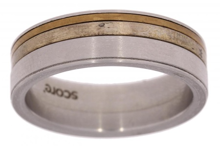 Verlinden Steel Collection titanium herenring maat 64 64/st.br.zi