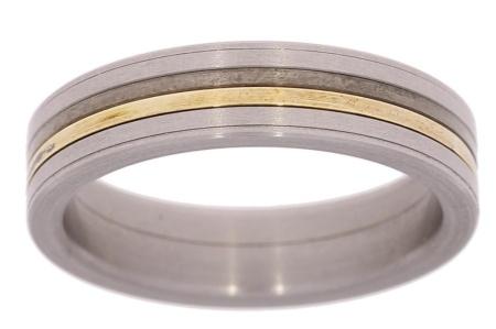 Verlinden Steel Collection Titanium damesring maat 54 57/st.go.zi n.a.l