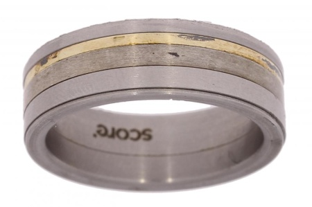 Verlinden Steel Collection titanium damesring maat 58 58/st.go.zi n.a.l