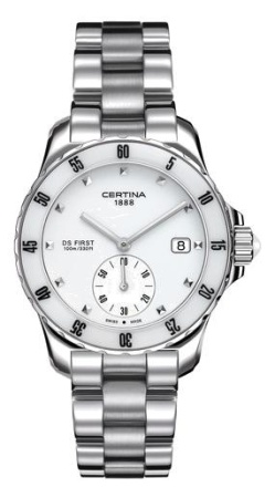 Certina dames pols horloge DS First Lady Ceramic DS first 09 Ce-C0142351101100