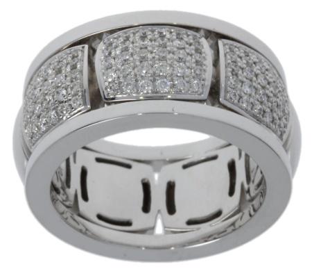 Roos 1835 18 krt witgouden damesring met 0.49 crt diamant Sale sieraden uitlopend