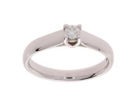 R-C  Diamond Jewerly R&C witgouden damesring met 0.15 crt diamant Valerie maat 54,5