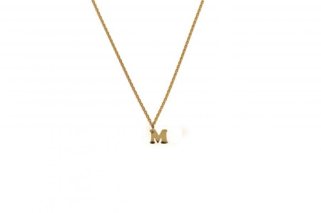 MissSpring 14 krt geelgouden hanger exclusief collier letter M tiny