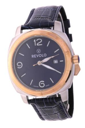 Revolo, Quartz 43 mm cushion/bicolor