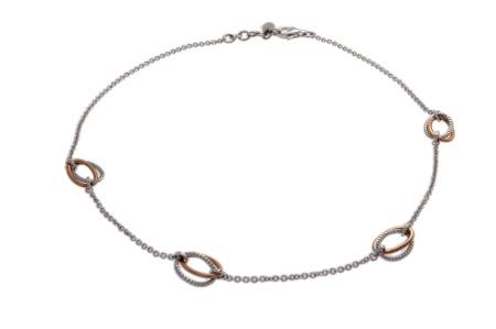 Esprit collier 925/000 zilver met rosé vergulde delen Esprit collier
