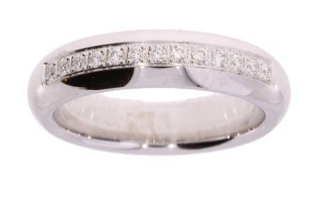 Verlinden Diamond Collections 14 krt witgouden dames ring met 0.201 crt diamant Sale sieraden uitlopend