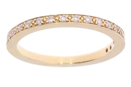 Verlinden Diamond Collections 14 karaat geelgouden damesring met 0.18 crt diamant mt. 16.5