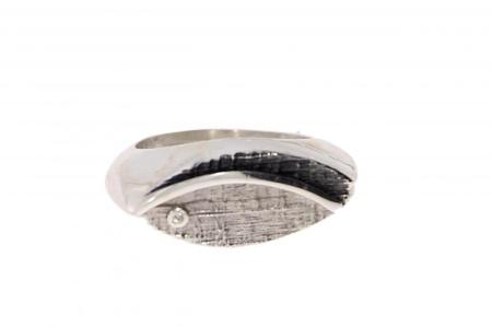 Audar zilveren ring met diamant maat 56